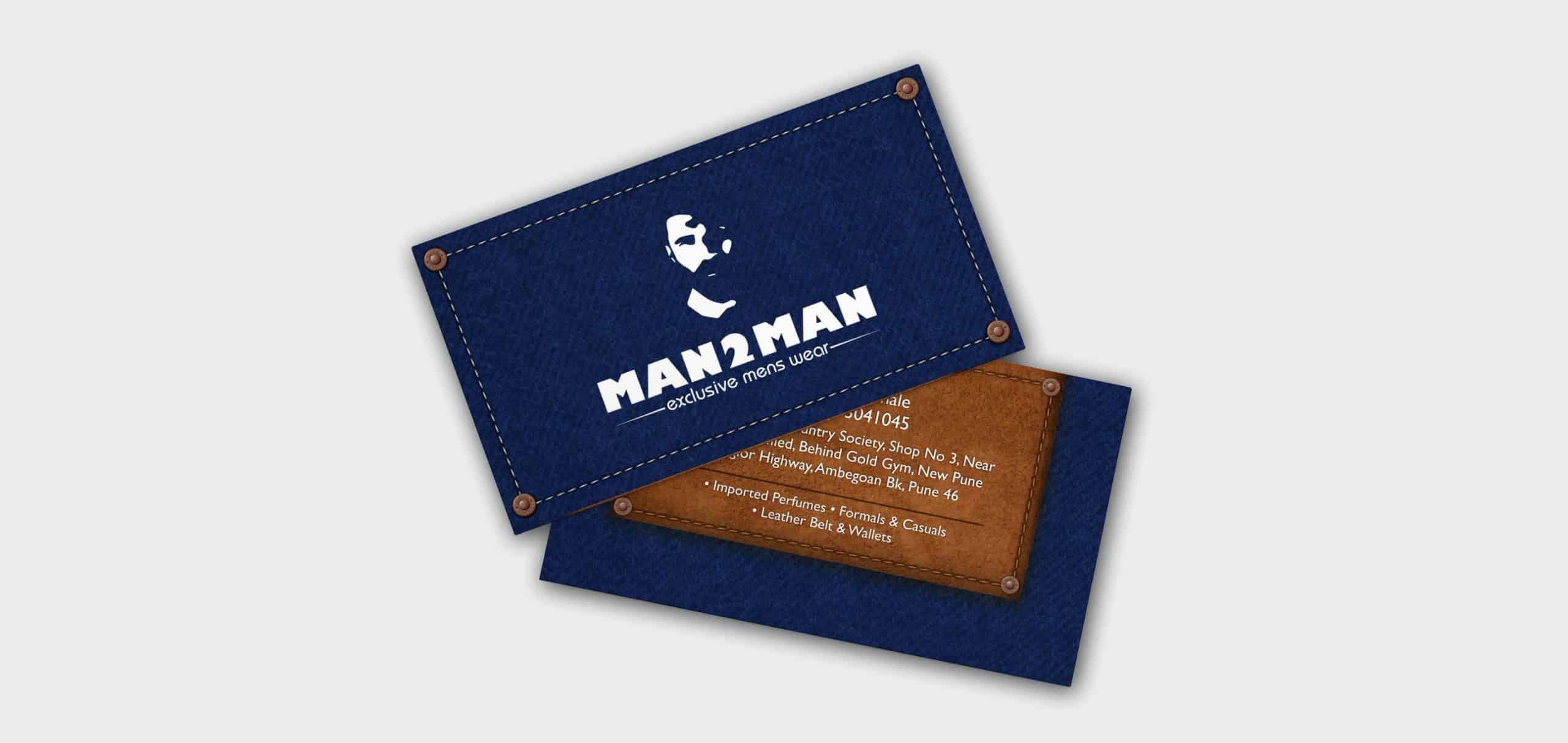 man 2 man visiting Card